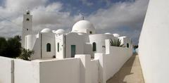 tunisia djerba island midoun mosque - stock photo