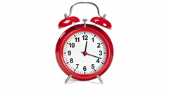 Alarm clock. Seamlessly loops. Time lapse - stock footage