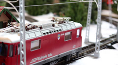 Model Train Sequence #2 Stock Footage