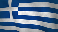Greece Flag Background Textured (Loop-able) Stock Footage