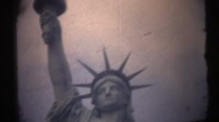 Stock Video Footage of 1950's & 60's  vintage, Statue of Liberty