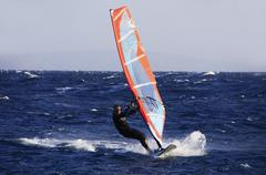 Windsurfer in dahab Stock Photos