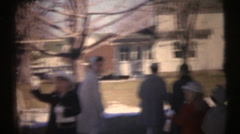1950's & 60's  vintage, dressed for chruch Stock Footage