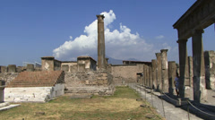 View accrosss Pompeii Stock Footage