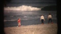 1950's & 60's  vintage, girls beach - stock footage