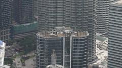 Kuala Lumpar - Petronas Towers Pan Up Stock Footage