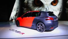 Peugeot 308 R Concept Stock Footage