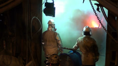 0122 Copper foundry - stock footage