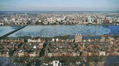 Charles River From Prudential Bldg. Stock Footage