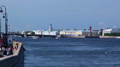 Vasilevsky Island. St. Petersburg. Russia 7 - stock footage