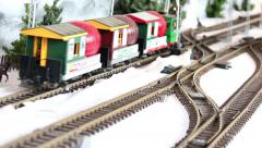 Model Train Sequence #5 Stock Footage