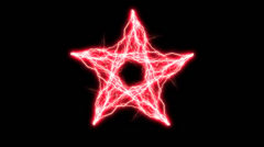 Red Electric Pentagram 2 Stock Footage