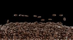 Coffee crop roasting and mixing isolated Stock Photos