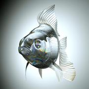 Front view of glass goldfish Stock Illustration