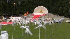 Yee Peng Festival preparation, MaeJo, Chiang Mai, Thailand. HD 1080p. Stock Footage
