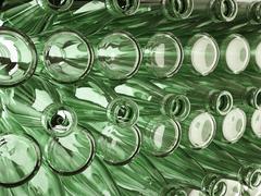 Storage of many emoty bottles Stock Illustration