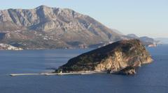 Budva, Montenegro, Saint Nicolas island Stock Footage