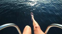 LOSINJ - JUNE 16: Sailing boat entering Veli Losinj harbour on the island of Stock Footage