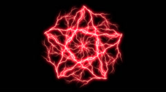 Red Electric Pentagram 3 Stock Footage