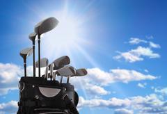 close-up of a golf bag - stock photo