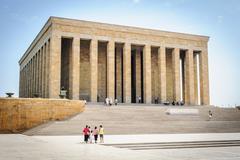 Mausoleum of ataturk aka mustafa kemal in ankara, turkey Stock Photos