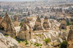 Bizarre rocks near Goreme, Cappadocia, Turkey Stock Photos