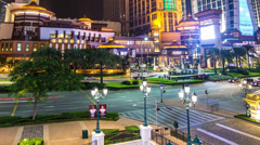 Panning time lapse of the Cotai strip in Macau Stock Footage