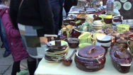 Stock Video Footage of stall ceramic produce