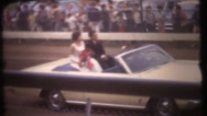 Stock Video Footage of 1950's & 60's  vintage,  Home comming parade