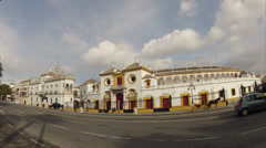 Seville city bull ring building street time lapse Stock Footage