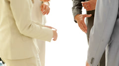 Business people joining hands Stock Footage