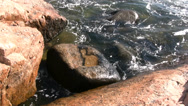 Stock Video Footage of Waves Hitting Rocks 02