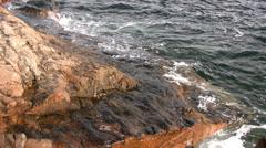 Waves Hitting Rocks 04 - stock footage