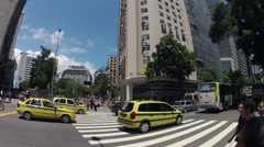 Brazil Rio busy streets time lapse Stock Footage