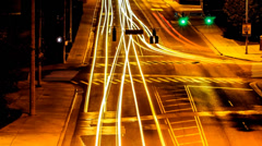 A city road time lapse Stock Footage