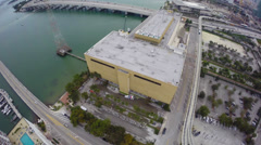 Miami Herald building destruction Stock Footage