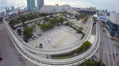 Curve Metro Rail Stock Footage
