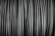 Stock Photo of Large coil of Aluminum wire