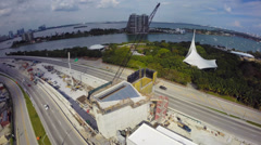 Port of Miami tunnel construction Stock Footage