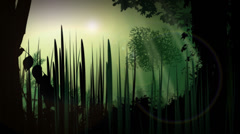 JUNGLE, vector animation, green, forest, tropical - stock footage