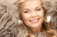 Stock Photo of beautiful woman in fur
