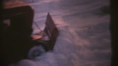 1950's & 60's  vintage, snow plow Stock Footage