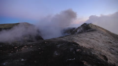 Etna crater, Sicily, Italy Stock Footage