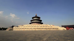 Qinian Hall in Temple of Heaven of Beijing, China Stock Footage