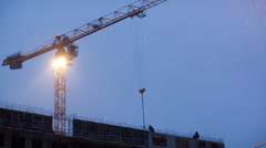 Construction works Stock Footage