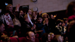 Stock Video Footage of People applauding in the theatre