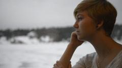 Teen I Love You on Window Stock Footage