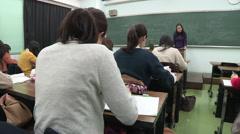 Japanese female students Stock Footage