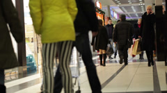 Shopping in the trade centre Stock Footage