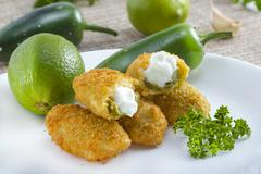 Stock Photo of mexican-american jalapeno poppers